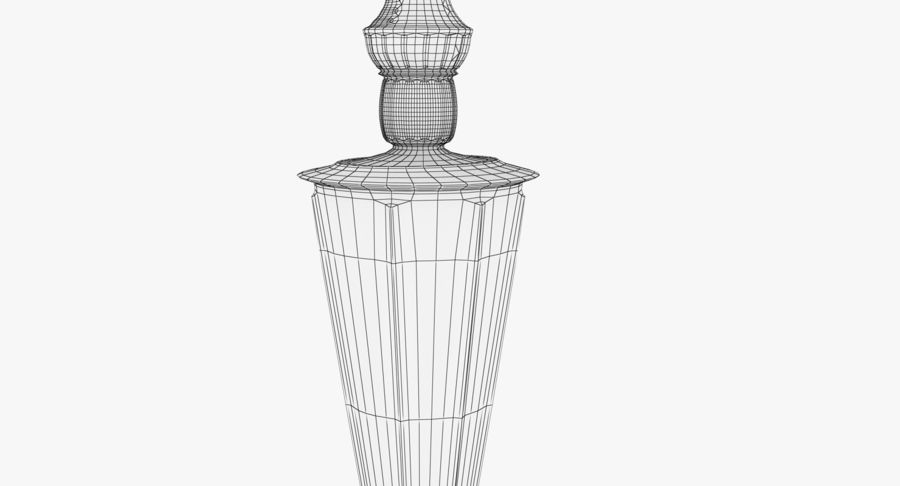 Antique Bronze Candle Holder royalty-free 3d model - Preview no. 16