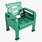 Courtside Bench 03 3d model