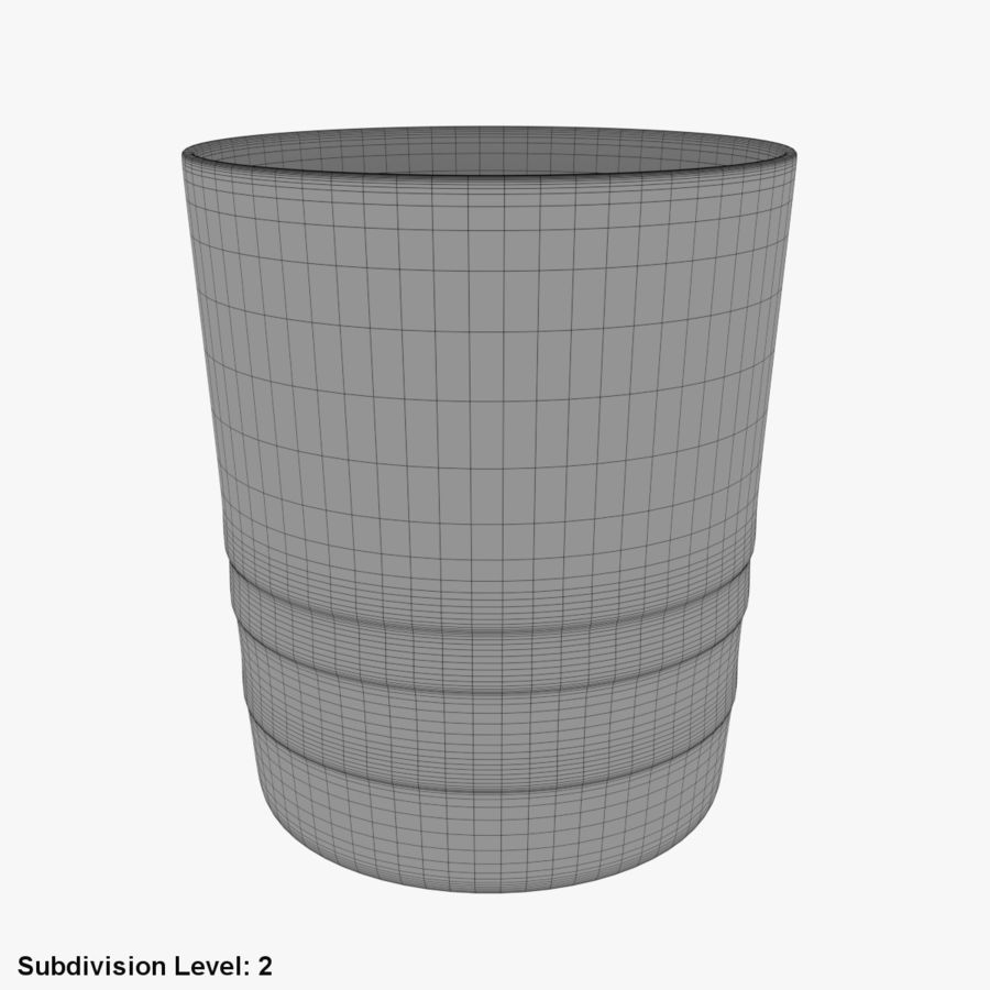 Whiskey Glass 04 royalty-free 3d model - Preview no. 10