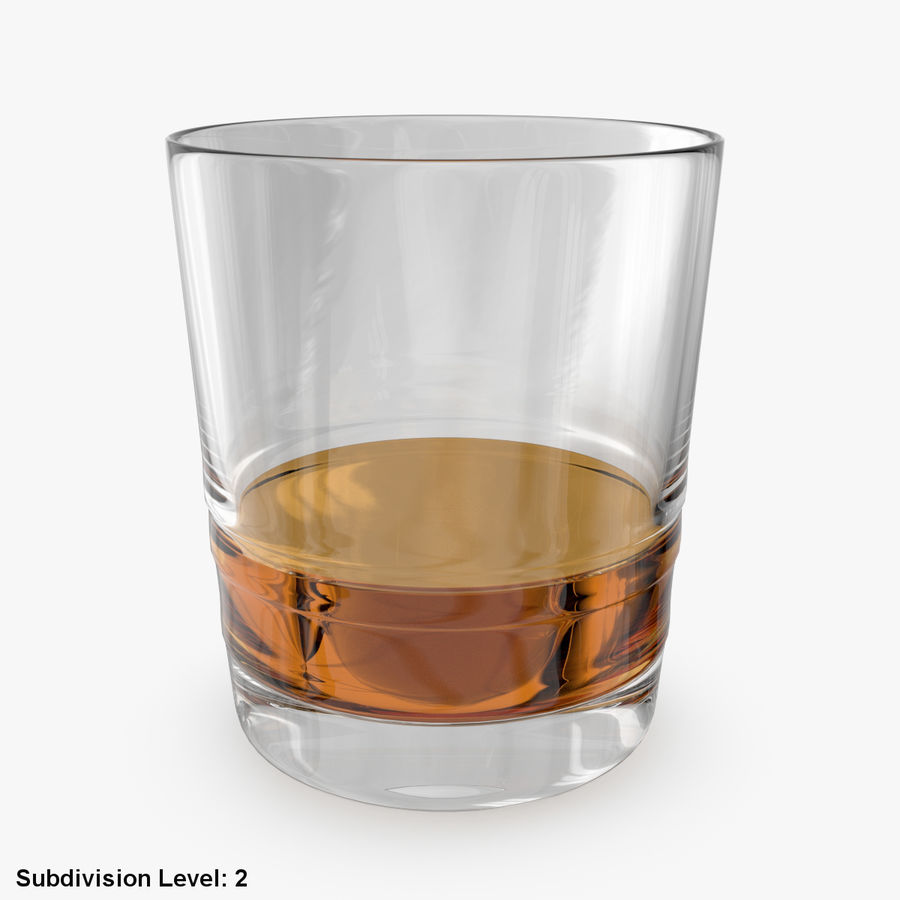 Whiskey Glass 04 royalty-free 3d model - Preview no. 8