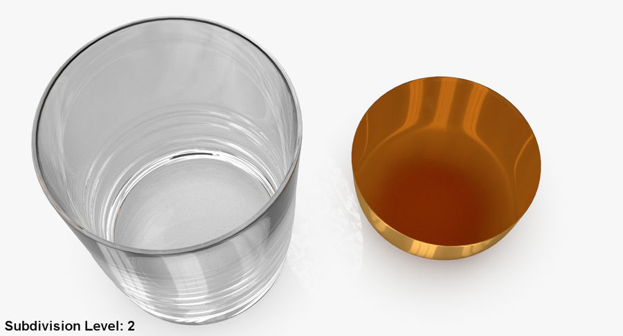 Whiskey Glass 04 royalty-free 3d model - Preview no. 18