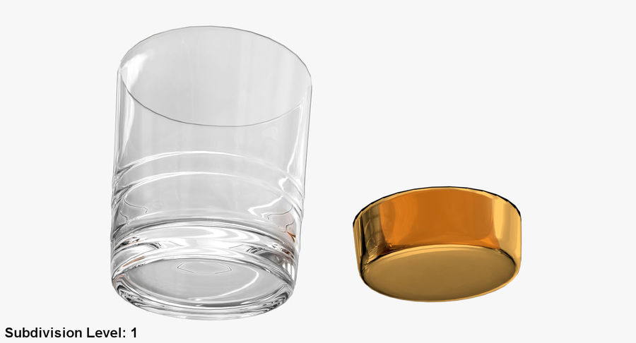 Whiskey Glass 04 royalty-free 3d model - Preview no. 22