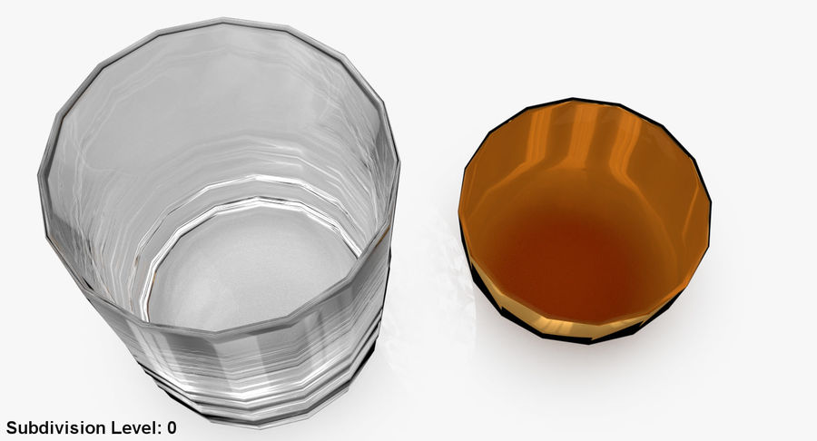 Whiskey Glass 04 royalty-free 3d model - Preview no. 14