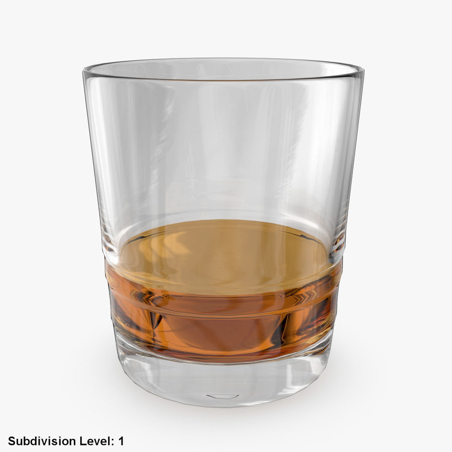Whiskey Glass 04 royalty-free 3d model - Preview no. 5