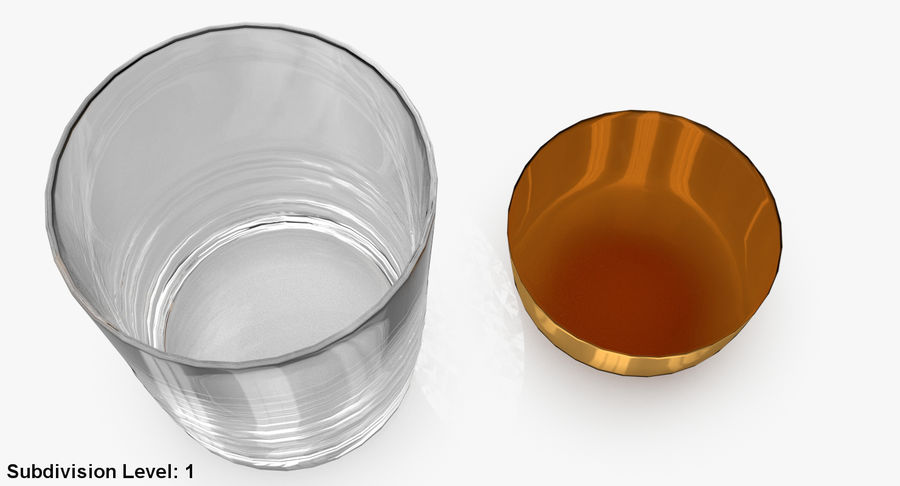 Whiskey Glass 04 royalty-free 3d model - Preview no. 16