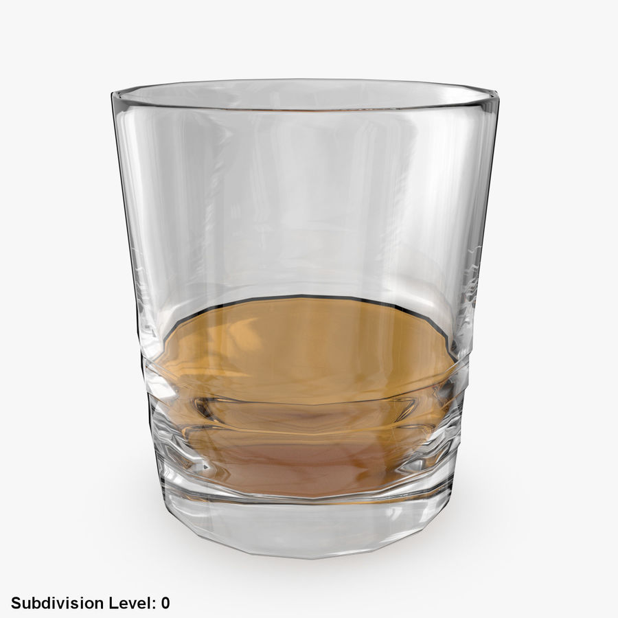 Whiskey Glass 04 royalty-free 3d model - Preview no. 2