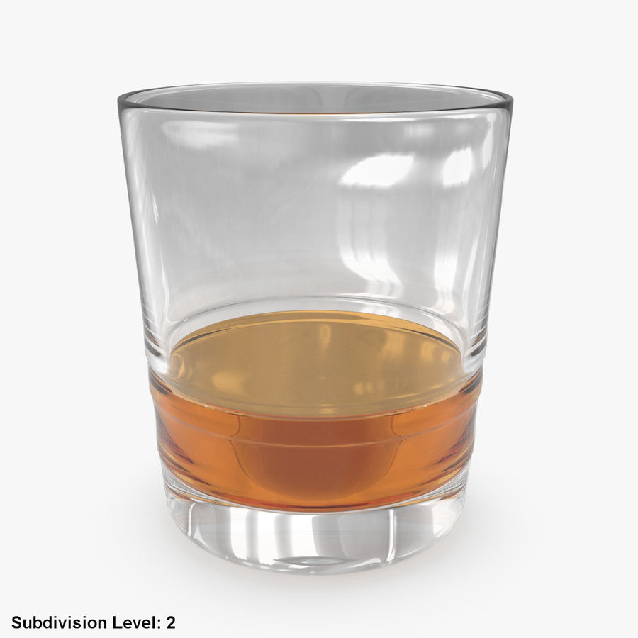Whiskey Glass 04 royalty-free 3d model - Preview no. 9