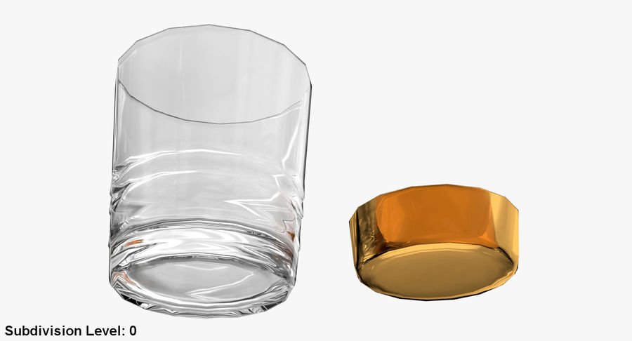 Whiskey Glass 04 royalty-free 3d model - Preview no. 20