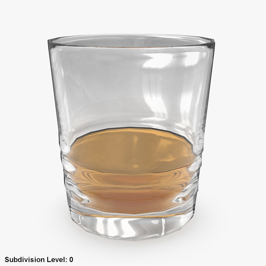 Whiskey Glass 04 royalty-free 3d model - Preview no. 3