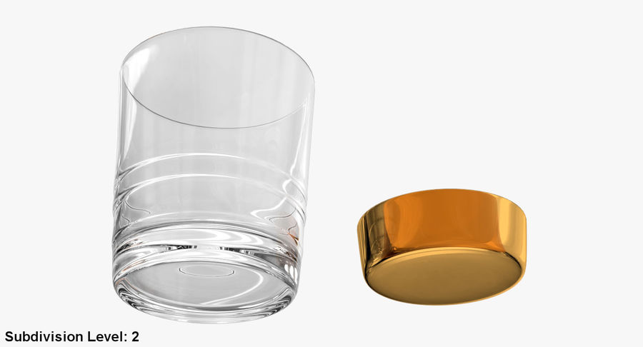 Whiskey Glass 04 royalty-free 3d model - Preview no. 24