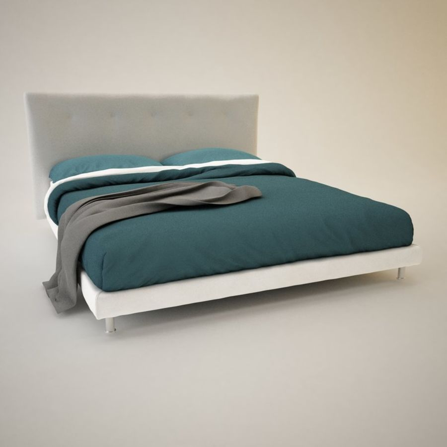 Bed 03 royalty-free 3d model - Preview no. 2