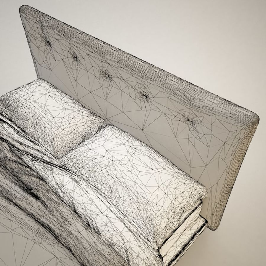 Bed 03 royalty-free 3d model - Preview no. 6