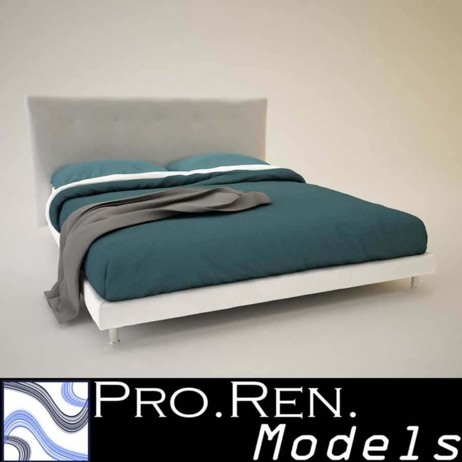 Bed 03 royalty-free 3d model - Preview no. 1