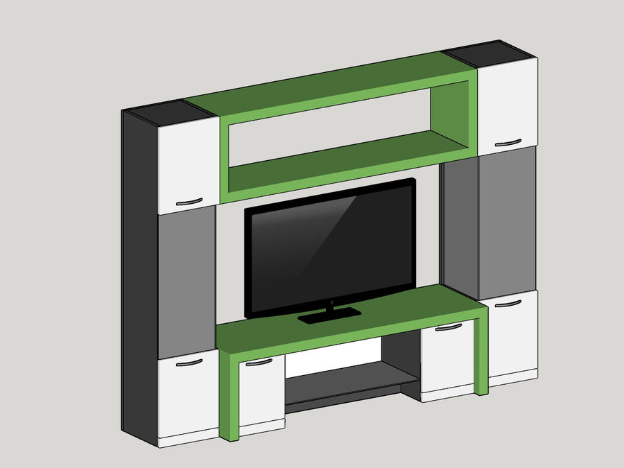 TV-apparat 2 royalty-free 3d model - Preview no. 5