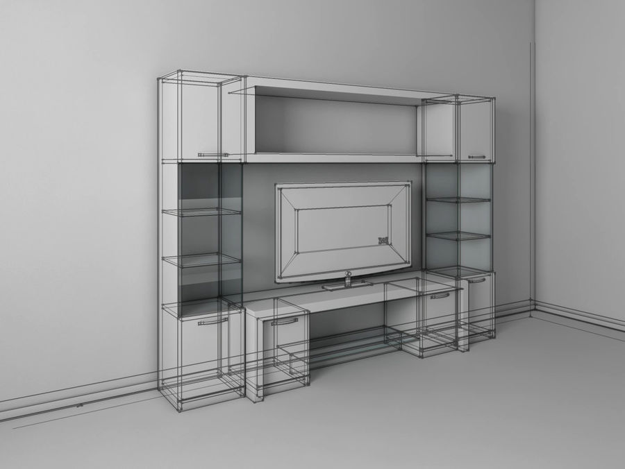 TV-apparat 2 royalty-free 3d model - Preview no. 3