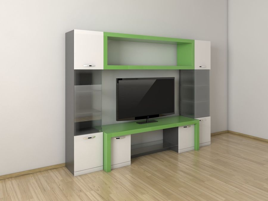 TV-apparat 2 royalty-free 3d model - Preview no. 1