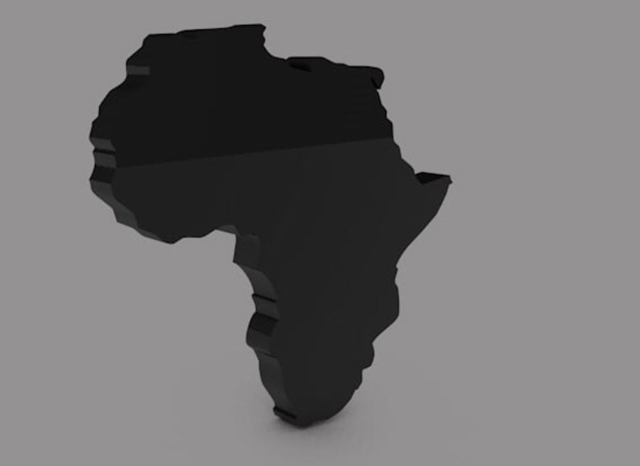 Africa 3D royalty-free 3d model - Preview no. 1