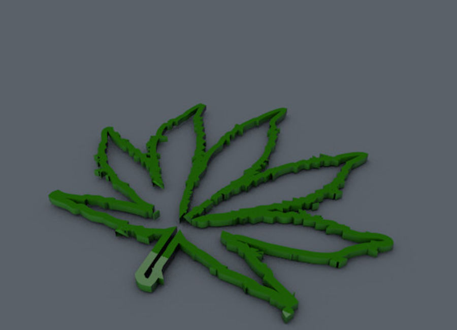 Leaf royalty-free 3d model - Preview no. 5