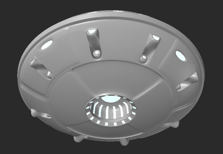 Alien ufo royalty-free 3d model - Preview no. 1