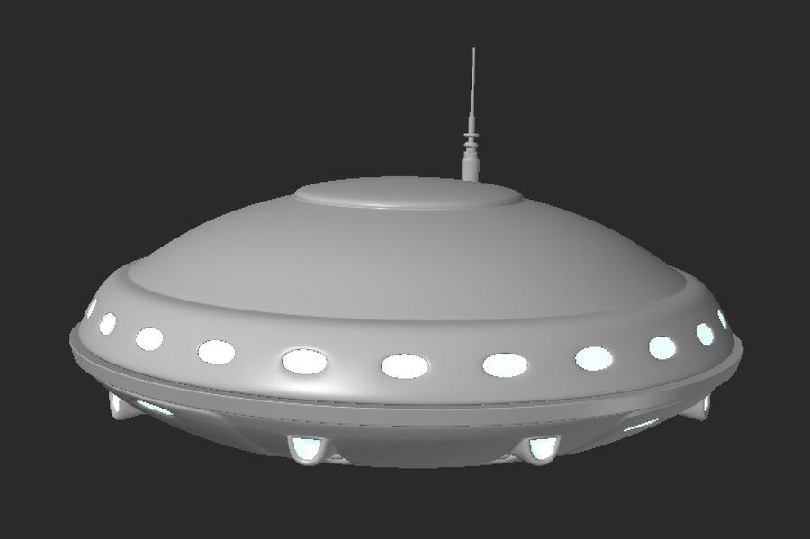 Alien ufo royalty-free 3d model - Preview no. 5
