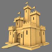 Zamek z tektury 3d model