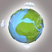 Terre stylisée 3d model