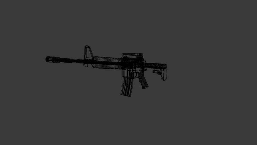 High Poly M4A1 royalty-free 3d model - Preview no. 9