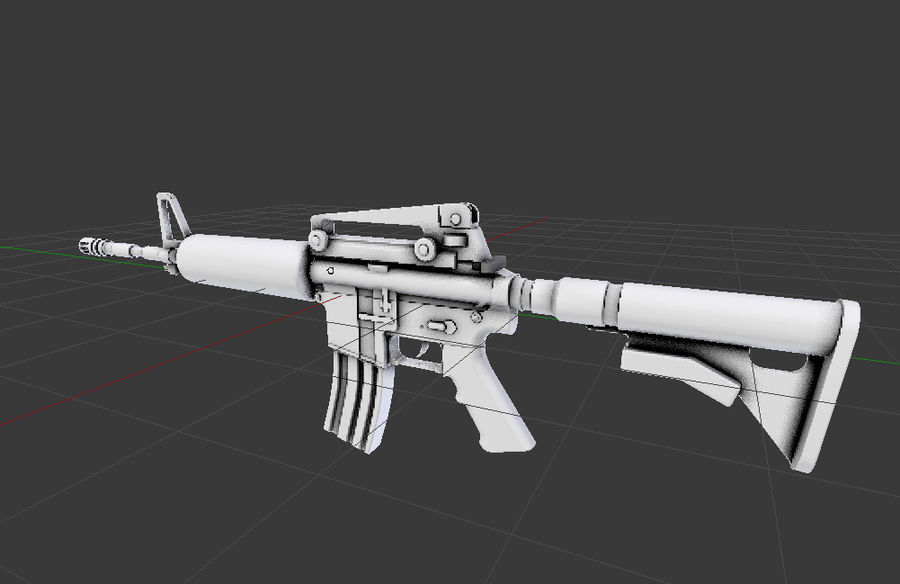 High Poly M4A1 royalty-free 3d model - Preview no. 6