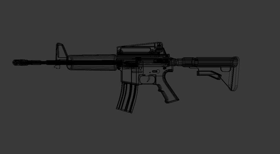 High Poly M4A1 royalty-free 3d model - Preview no. 8
