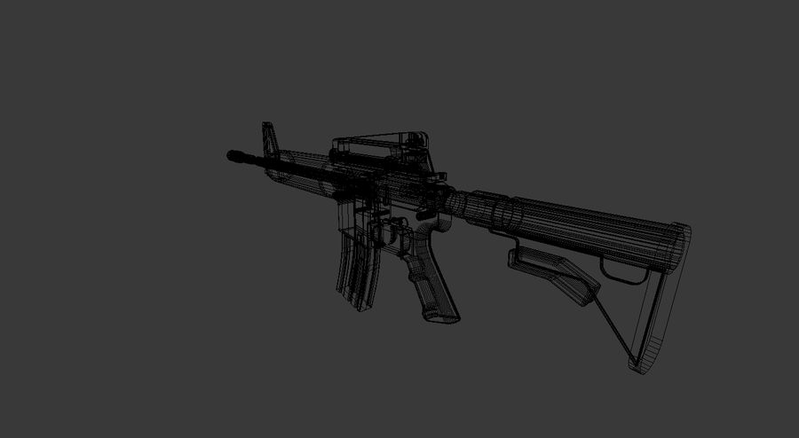 High Poly M4A1 royalty-free 3d model - Preview no. 10