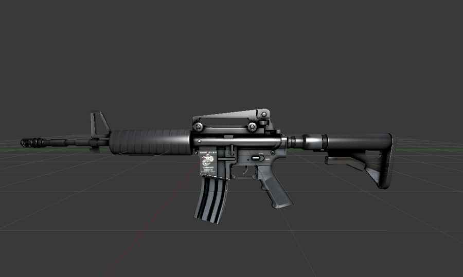 High Poly M4A1 royalty-free 3d model - Preview no. 2