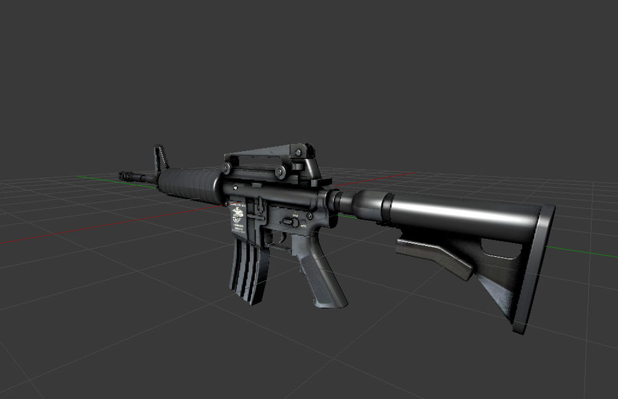 High Poly M4A1 royalty-free 3d model - Preview no. 1