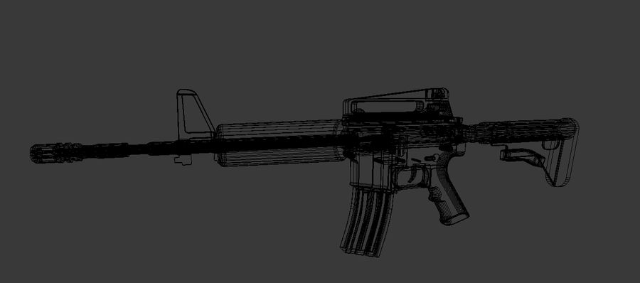 High Poly M4A1 royalty-free 3d model - Preview no. 4