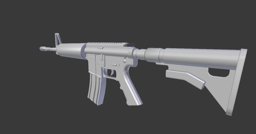 High Poly M4A1 royalty-free 3d model - Preview no. 5