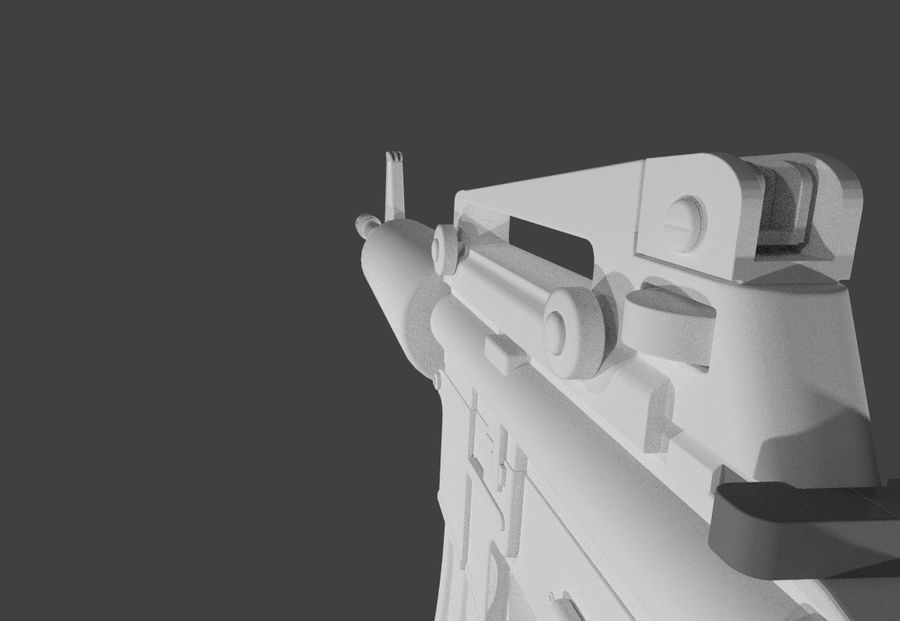 High Poly M4A1 royalty-free 3d model - Preview no. 7