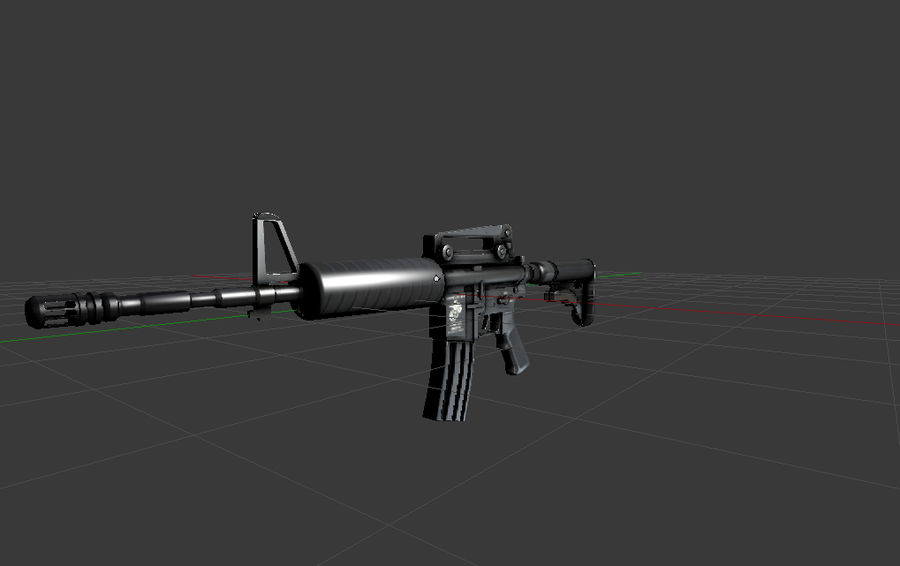 High Poly M4A1 royalty-free 3d model - Preview no. 3