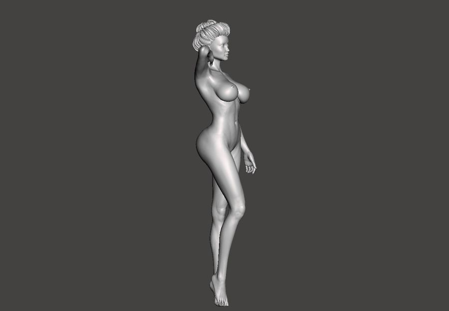 Sexig dam royalty-free 3d model - Preview no. 5