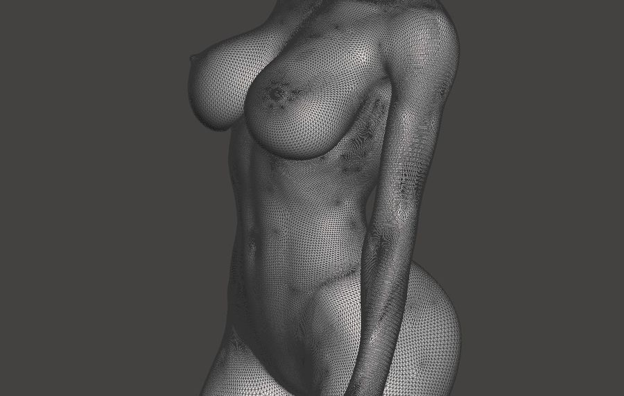 Sexy Lady royalty-free 3d model - Preview no. 2