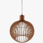 Variante della lampada da soffitto in legno1 3d model