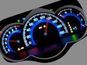 Car dashboard animated 3d model