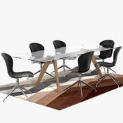 Boconcept Monza table & Adelaide chairs 3d model
