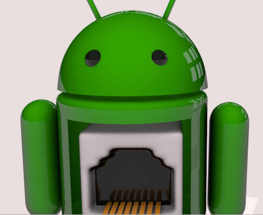 Android-robot royalty-free 3d model - Preview no. 3