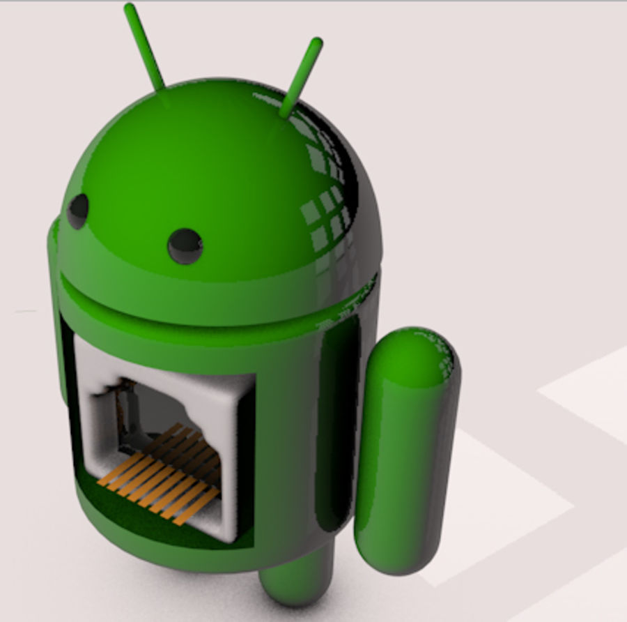 Android-robot royalty-free 3d model - Preview no. 2