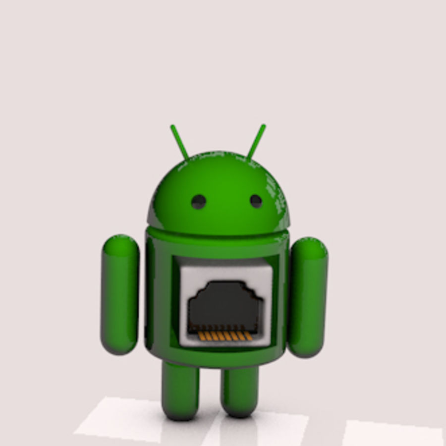 Android-robot royalty-free 3d model - Preview no. 4