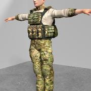 Żołnierz amerykański (1) 3d model