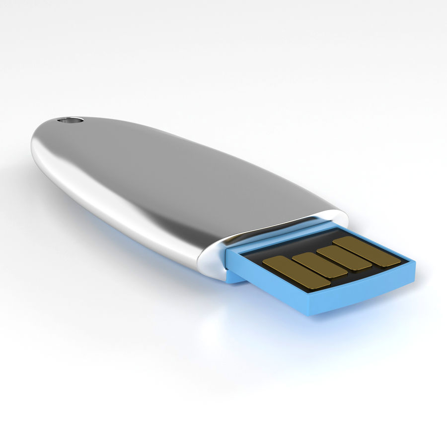 USB flash drive (9) royalty-free 3d model - Preview no. 5