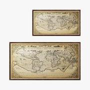 Hardware per restauro 1588 Mappa del mondo 3d model