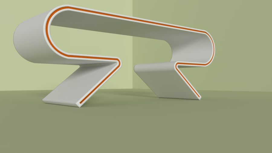 Modern Table and Chairs royalty-free 3d model - Preview no. 5