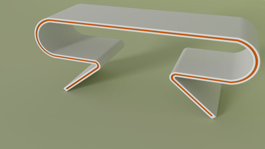 Modern Table and Chairs royalty-free 3d model - Preview no. 4