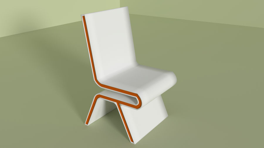 Modern Table and Chairs royalty-free 3d model - Preview no. 6